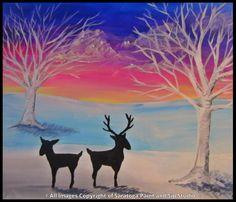 WINTER DEER at Saratoga Paint & Sip Studio