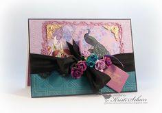 Kristi's Paper Creations: Pretty Peacock Birthday Card