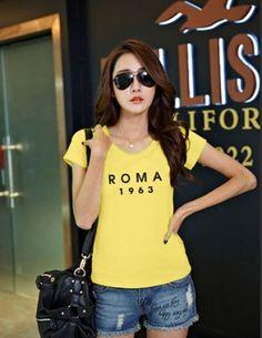 Áo thun teen ROMA màu vàng - B2831