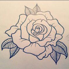Ideas For Tattoo Old School Rose Design Tat Tribal Sleeve Tattoos, Neck Tattoos, Girl Tattoos, Cage Tattoos, Hawaiianisches Tattoo, Tattoo Hals, Tattoo Thigh, Dessin Old School, Old School Rose