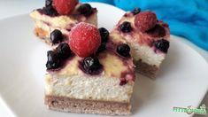 Gyümölcsös vagy mazsolás túrós pite Healthy Snacks, Cheesecake, Food, Health Snacks, Healthy Snack Foods, Cheesecakes, Essen, Meals, Yemek
