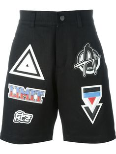 KTZ Patched Denim Shorts. #ktz #cloth #shorts