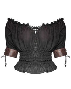 Punk rave emmaline top black 2019 Punk Rave Emmaline Gypsy Top Womens Black Brown Gothic Steampunk Boho Tee The post Punk rave emmaline top black 2019 appeared first on Lace Diy. Gothic Steampunk, Steampunk Clothing, Steampunk Outfits, Steampunk Accessories, Steampunk Pants, Gothic Corset, Steampunk Costume, Gothic Outfits, Leather Accessories
