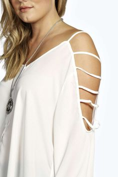 Eve Ladder Cut Out Sleeve Blouse alternative image