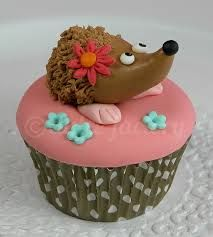 Image result for hedgehog cupcakes