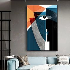 Abstract Splice Face Canvas Painting Modern Posters Print Geometric Wall Art Nordic Pictures For Living Room Bedroom Decoration Canvas Poster, Canvas Wall Art, Wall Art Prints, Poster Prints, Canvas Prints, Modern Posters, Abstract Face Art, Geometric Wall Art, Living Room Pictures