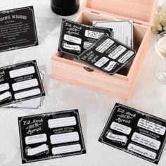 Vieraskirjakortit, mustavalkoinen (englanninkieliset)