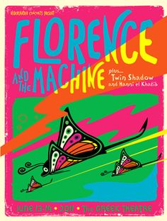 Florence and the Machine concert poster