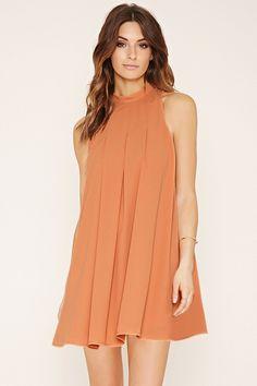 Contemporary Pleated Mini Dress   LOVE21 - 2000186268