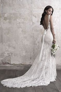 Open Back Wedding Dress, Wedding Dresses With Straps, Fit And Flare Wedding Dress, Fall Wedding Dresses, Wedding Dress Sleeves, Elegant Wedding Dress, Bridal Dresses, Wedding Gowns, Wedding Ceremony