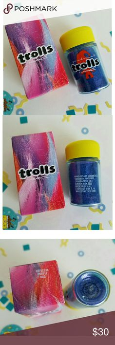 Mac Trolls Purple Duo Reflects Glitter New Mac Trolls Purple Duo Reflects Glitter from the Mac Good luck Trolls Limited Edition Collection. MAC Cosmetics Makeup Eyeshadow
