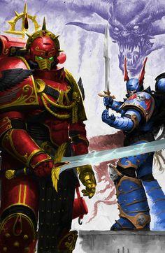 Warhammer Fantasy and art. Warhammer 40k Blood Angels, Warhammer 40k Art, Warhammer Fantasy, 40k Armies, Martial, The Horus Heresy, Knight Art, Game Workshop, Geek Art