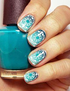 Hawaii-Inspired Nail Art