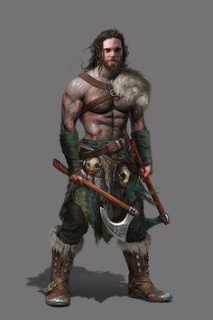 Tattooed warrior