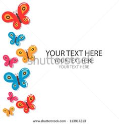 Colorful vector butterflies on white background - stock vector