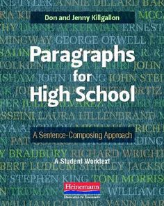 Paragraphs for High School: A Sentence-Composing « LibraryUserGroup.com – The Library of Library User Group