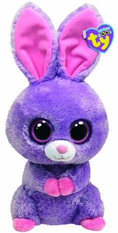 Ty Beanie Boos Buddies Petunia Purple Bunny in Animals. Beanie Boo Party, Ty Beanie Boos, Ty Boos, Beanie Babies, Big Eyed Animals, Ty Animals, Ty Stuffed Animals, Stuffed Toys, Dolly Parton