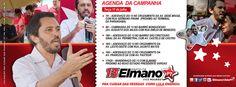 Nesta terça (17), Elmano estará próximo ao PV em um bandeiraço. Compareça!