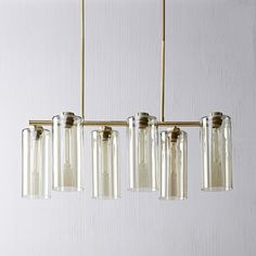 Shop glass cylinder chandelier from west elm. Find a wide selection of furniture and decor options that will suit your tastes, including a variety of glass cylinder chandelier. Mobile Chandelier, Sputnik Chandelier, Chandelier Lighting, Chandeliers, Rectangle Chandelier, Chandelier Ideas, Kitchen Chandelier, Luxury Lighting, Home Lighting