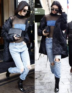 Kendall Jenner out and about in Paris for fashion week on March 6, 2017.