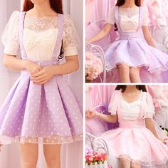 """Material:made of cotton and polyesterColors:Purple/PinkOption:Little Dot/Big DotSize Reference: Size Length Waist One Size 80cm/31.50 """" 70cm/27.56 """"  Shipping:"""