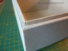 МК по шкатулке в технике картонаж - Мастер-класс