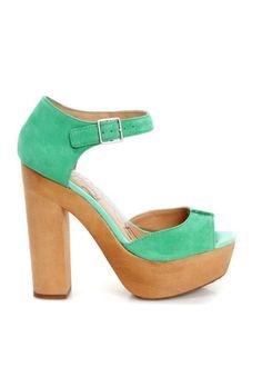 Jade Suede Sandals