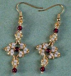 These simple, elegant earrings are handbeaded. Elegant enough for evening wear, but simple enough for daytime or street wear.
