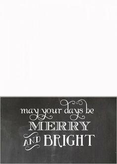 Free Chalkboard Christmas Card Templates  Christmas Card