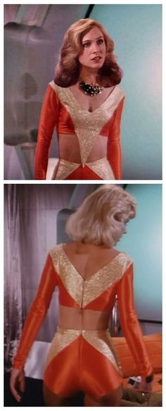 Erin Gray, her character sadly demoted to cheer leader status in Season 2 of the show, Buck Rogers. Erin Gray, Sci Fi Tv Series, Sci Fi Tv Shows, Buck Rodgers, Markie Post, Cosplay Costume, Space Girl, Drame, Star Wars