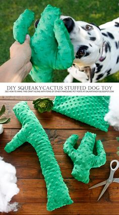 DIY Dog Toys | How to Make a Squeaky Stuffed Cactus Softie Dog Toy - Tap the pin for the most adorable pawtastic fur baby apparel! You'll love the dog clothes and cat clothes! <3