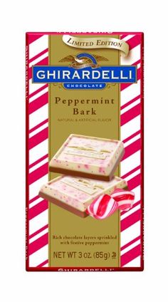 Ghirardelli Chocolate Bars Peppermint Bark 3Ounce Bars Pack of 4 >>> Want additional info? Click on the image.