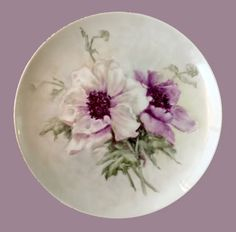 Poppies On A Small Plate Finished |Inspired by Catherine Klein Poppies ARTchat - Porcelain Art Plus (formerly Chatty Teachers & Artists)