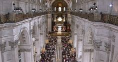 The country's great and good gather under the historic arches of St Paul's, 06/05/2012.
