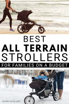 All Terrain Strollers are awesome for the beach, the snow and everything in between! Check out these budget friendly options for the best all terrain stroller for your family. #parenting #strollerreview
