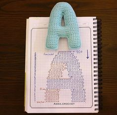 Whole alphabet of crochet They're not too big and the diagram are free Crochet Diy, Crochet Amigurumi, Crochet Home, Love Crochet, Crochet Gifts, Crochet Motif, Crochet Dolls, Crochet Alphabet Letters