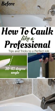 How to Caulk a Bathtub or shower surround - the best tips and tricks for caulking like a professional including removing old caulk and the best tools. Tips And Tricks, Home Remodeling Diy, Home Renovation, Bathroom Remodeling, Home Improvement Projects, Home Projects, Bathroom Caulk, Bathtub Caulking, Master Bathroom