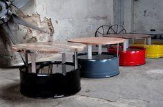 Fasstisch Fass Tisch Couchtisch aus 200l Neu Fass Pulverbesch Fassmöbel in Möbel & Wohnen, Möbel, Tische | eBay!