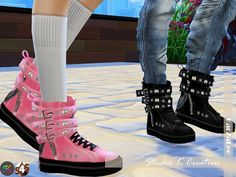Studio K Creation: Backle Sneakers • Sims 4 Downloads