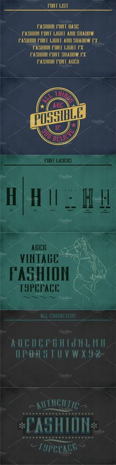"""Introducing a vintage look label typeface named """"Fashion"""". It's made in strong and vintage label style. Typeface is good viewed on any labels design. Light Font, Gothic Fonts, Vintage Labels, Font Styles, Fashion Vintage, Label Design, Vintage Looks, Names, Abstract"""