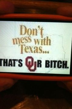 Boomer Sooner - Texas Sucks!
