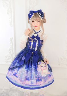 #LolitaUdpate: Dark blue color of [-★-Angel's Heart -Castle Of Fantasy- Series-★-] >>> http://www.my-lolita-dress.com/newly-added-lolita-items-this-week/angel-s-heart-castle-of-fantasy-series