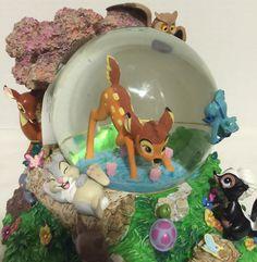 "Disney's ""Bambi and Friends"" Musical Snow Globe | eBay"