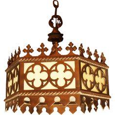 Vintage Gothic chandelier found on Ruby Lane #gothic #rubylane vintag gothic, gothic rubylan, gothic chandeli, lane gothic