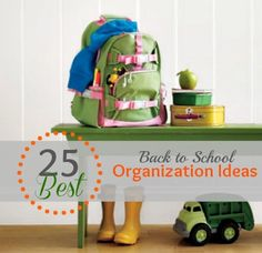 Gear up for #back-to-school with this roundup of great ideas from Remodelaholic. #organize