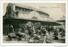 Nantes, le bâtiment de la Poissonnerie, années 1900