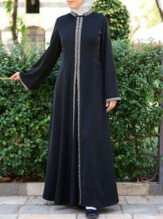Burqa Designs, Abaya Designs, Abaya Fashion, Fashion Dresses, Hijab Gown, Muslim Women, Muslim Brides, Moslem Fashion, Mode Abaya