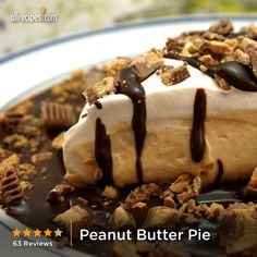March 1- National Peanut Butter Lovers Day! Celebrate with a slice of Peanut Butter Pie