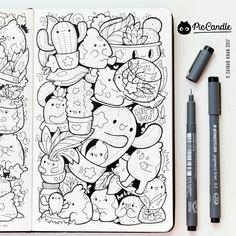 Cactus doodle by #piccandle 10JAN17
