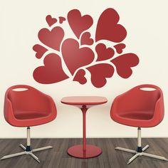 Adesivi Murali: cuori #sanvalentino #valentino #decorazione #vinyle #adesivi #muro #vetrina #negozio #deco #StickersMurali